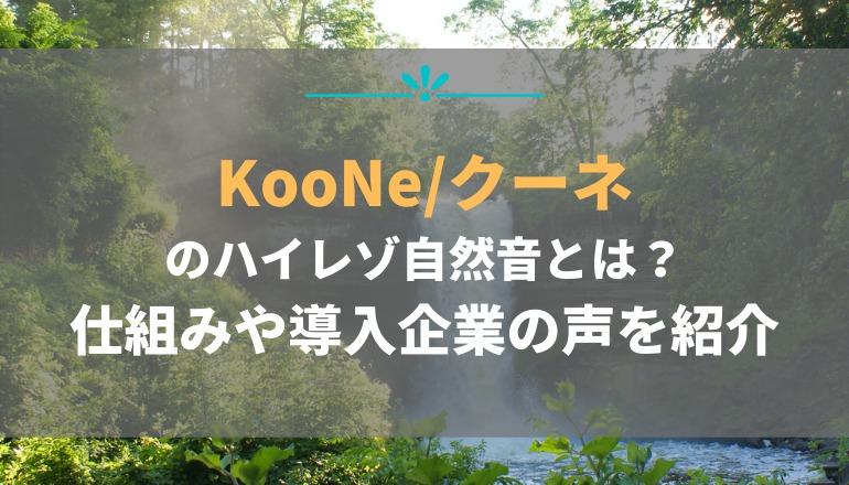 KooNe(クーネ)導入|3つのポイントをおさえてハイレゾ空間を体感